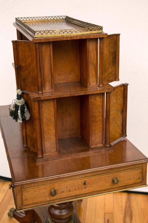 Regency Period Mahogany Bonheur du Jour Desk For Sale 2