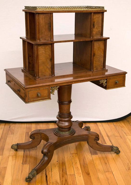 Regency Period Mahogany Bonheur du Jour Desk For Sale 3