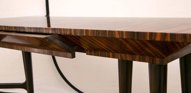 Midcentury Macassar Ebony Writing Desk in the Manner of Gio Ponti For Sale 2