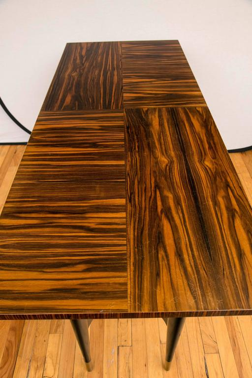 Midcentury Macassar Ebony Writing Desk in the Manner of Gio Ponti For Sale 3
