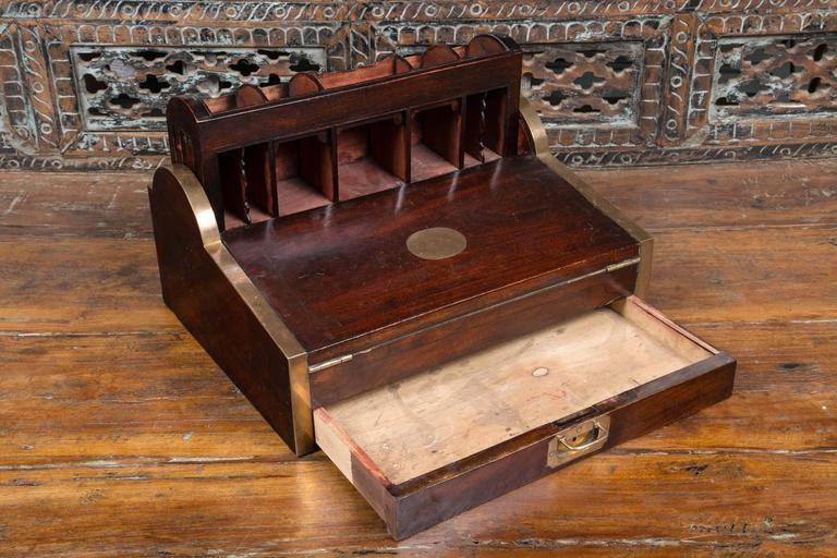 Antique 1830 Wooden Tambour Campaign Lap Roll Top Desk At