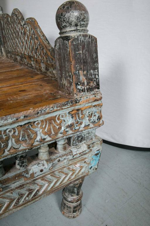 Antique Prayer Bench From India Repurposed Daybed Or