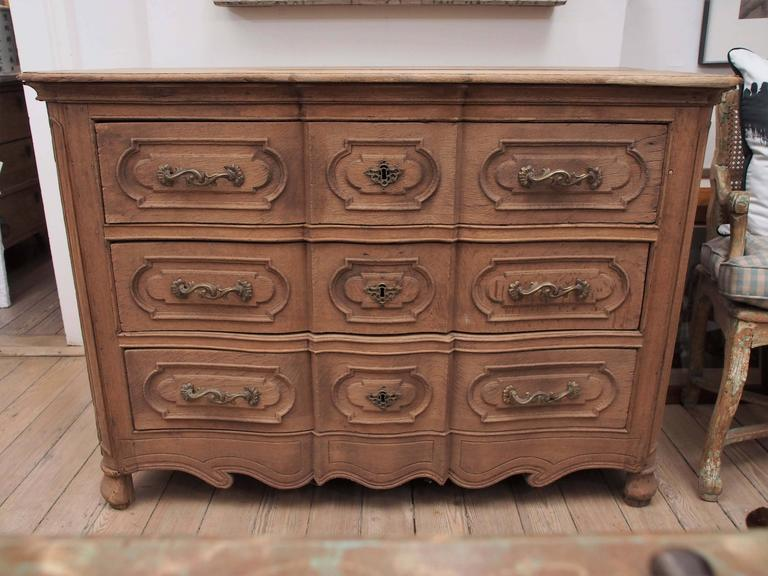 French Provincial Louis XV Style Commode For Sale