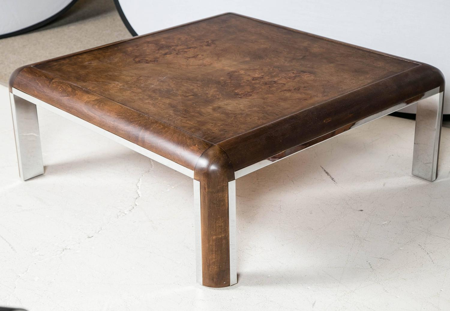 Burled Wood Coffee Table For Sale At 1stdibs