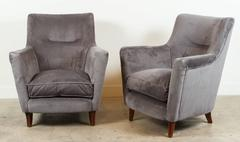 Pair of Club Chairs in the Style of Paolo Buffa
