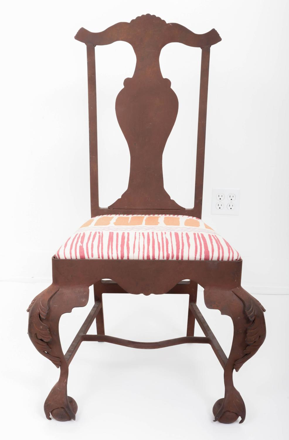 Iron Queen Anne Chair For Sale at 1stdibs