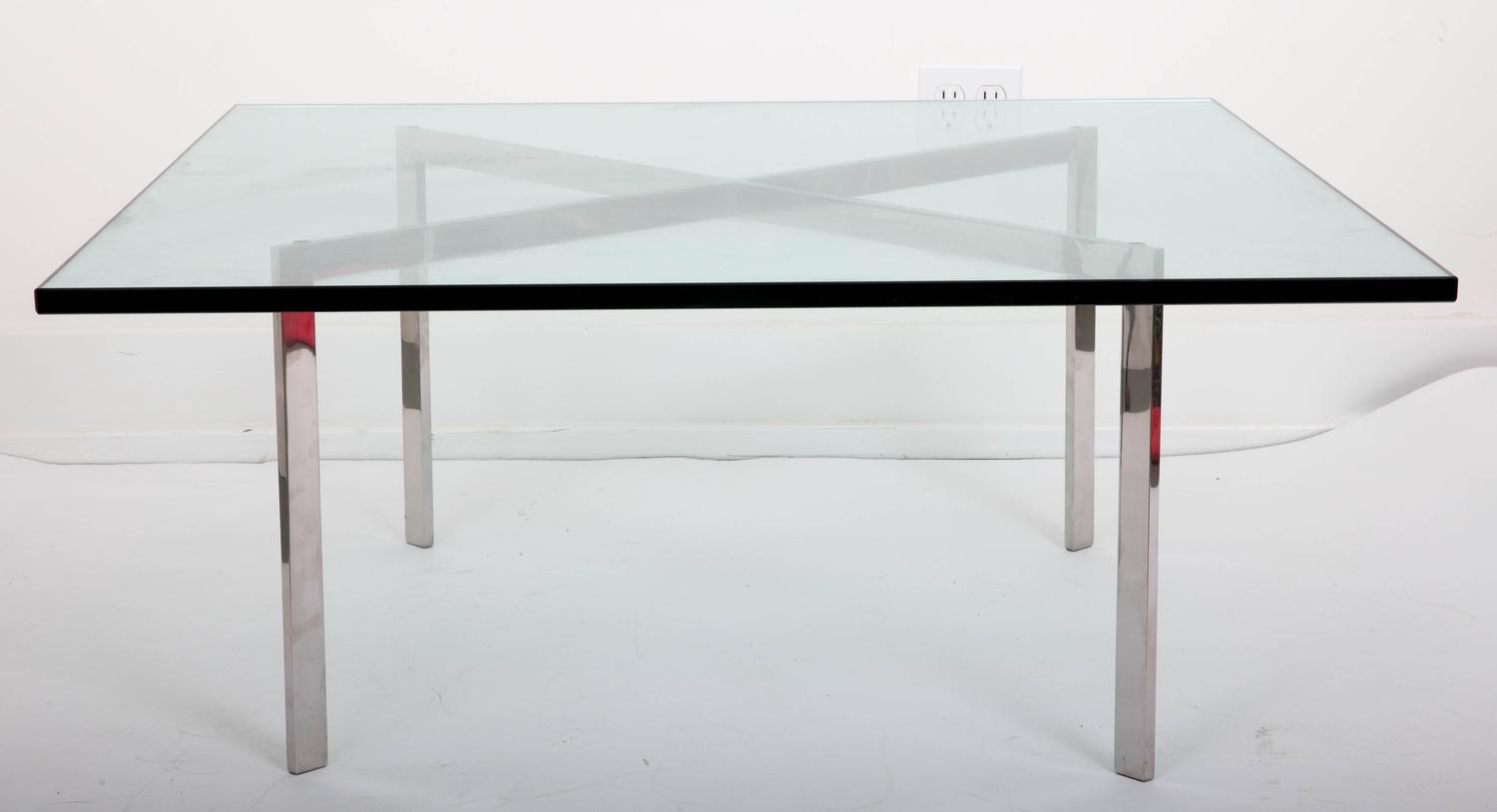 Mid Century Mies Van Der Rohe Barcelona Coffee Table For Sale At 1stdibs