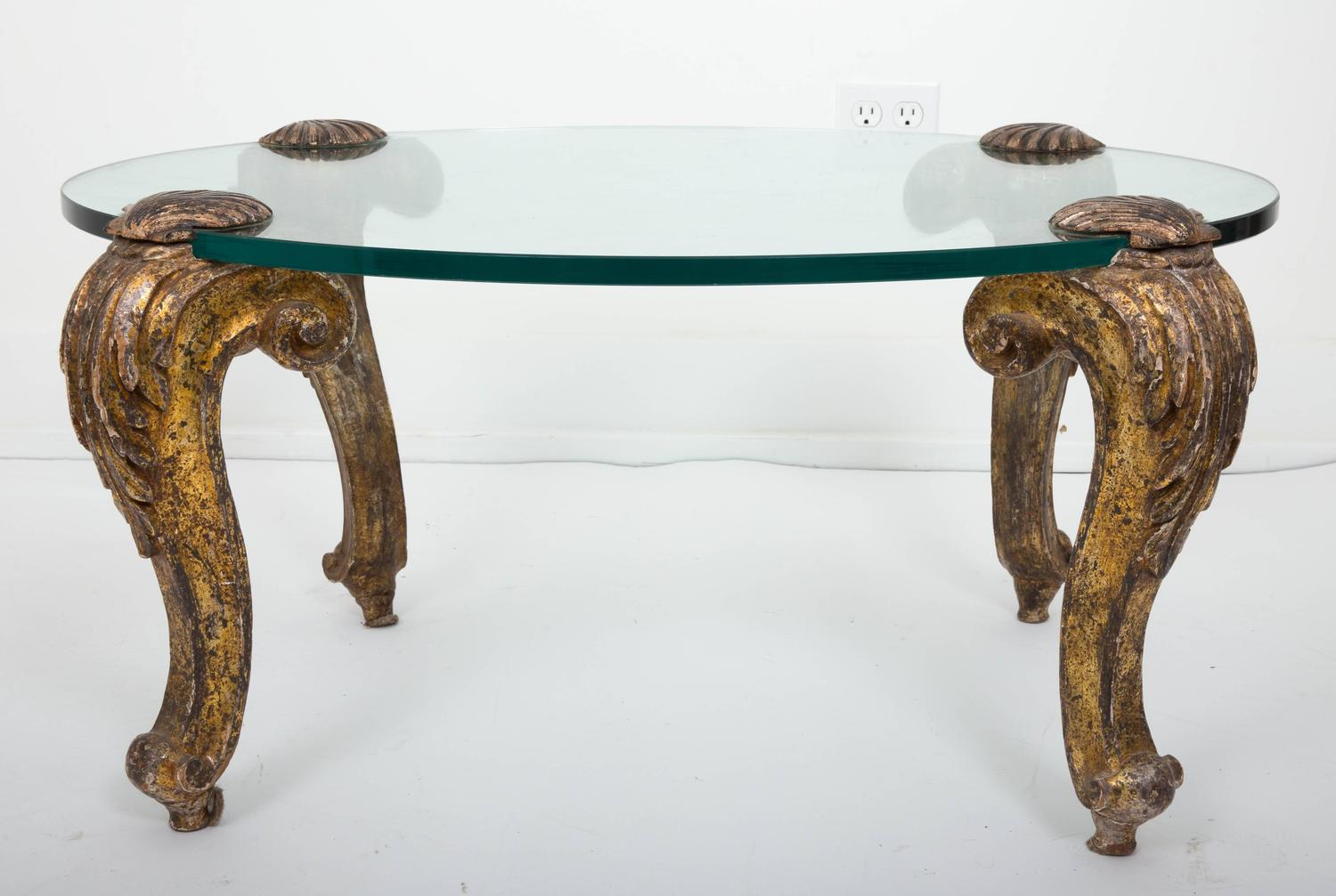 Italian grotto style coffee table with glass top for sale at 1stdibs Tuscan style coffee table