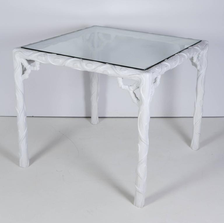 French Glass Top Table and Two Chair Garden Set 7