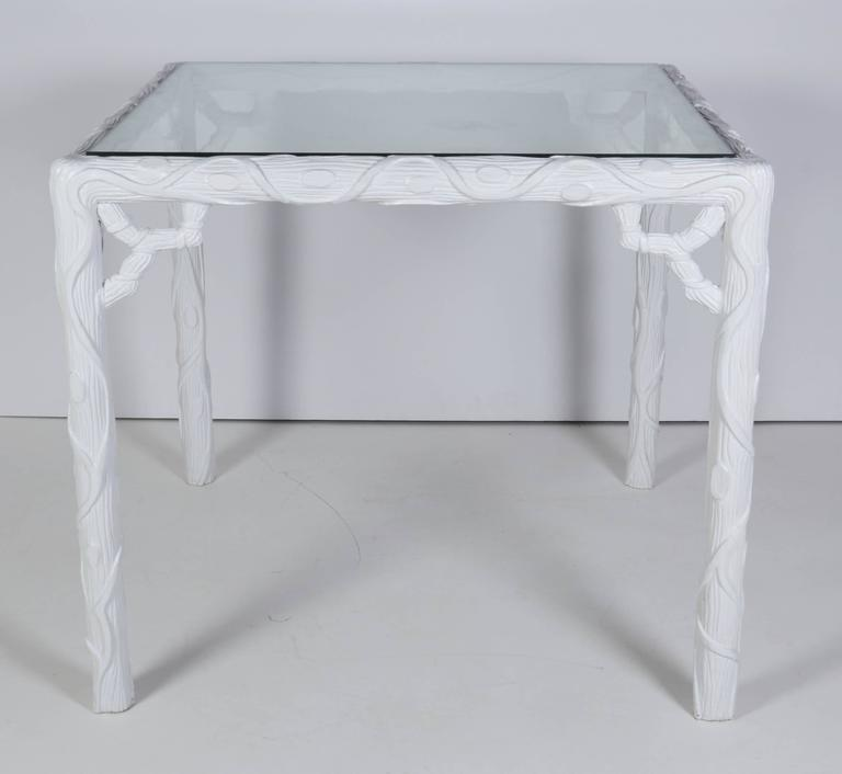 French Glass Top Table and Two Chair Garden Set 9