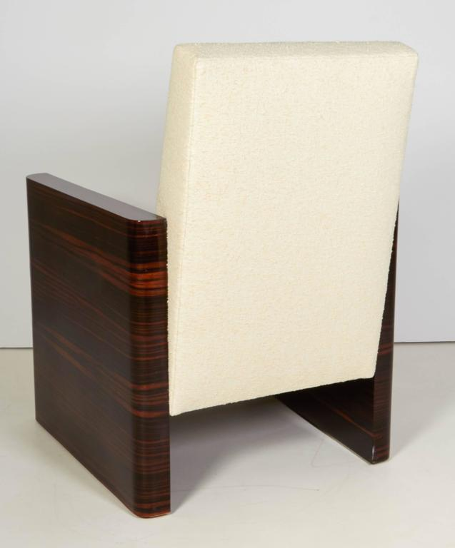 Pair of French Art Deco Macassar Wood Armchairs 7