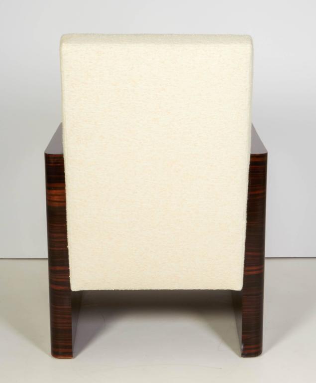 Pair of French Art Deco Macassar Wood Armchairs 8