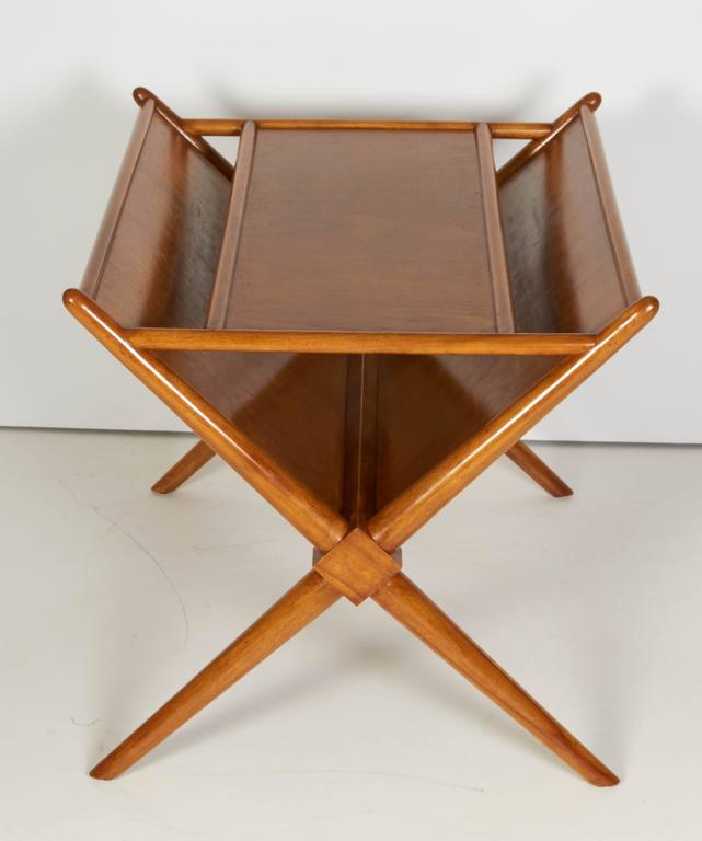 Wood magazine side table by T.H. Gibbings, circa 1950.