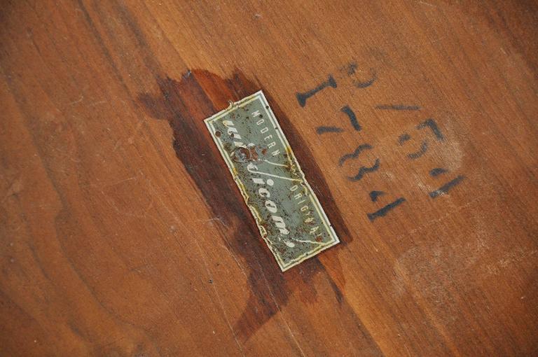 T.H. Robsjohn-Gibbings Brass Leg Pouf Ottoman For Sale 4