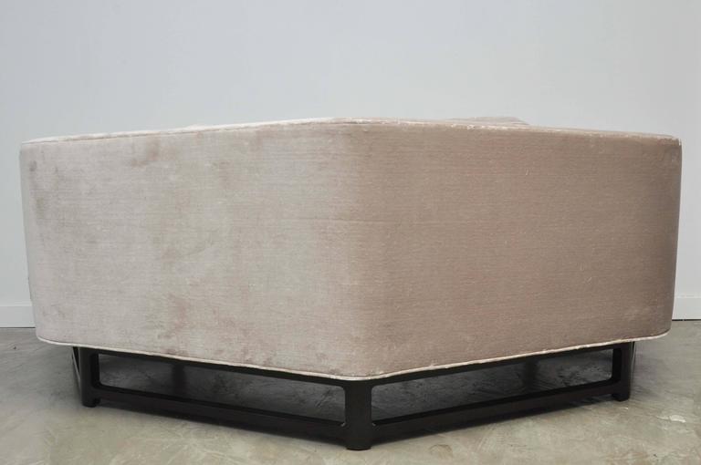 """Velvet Dunbar """"Janus Sofa"""" by Edward Wormley For Sale"""