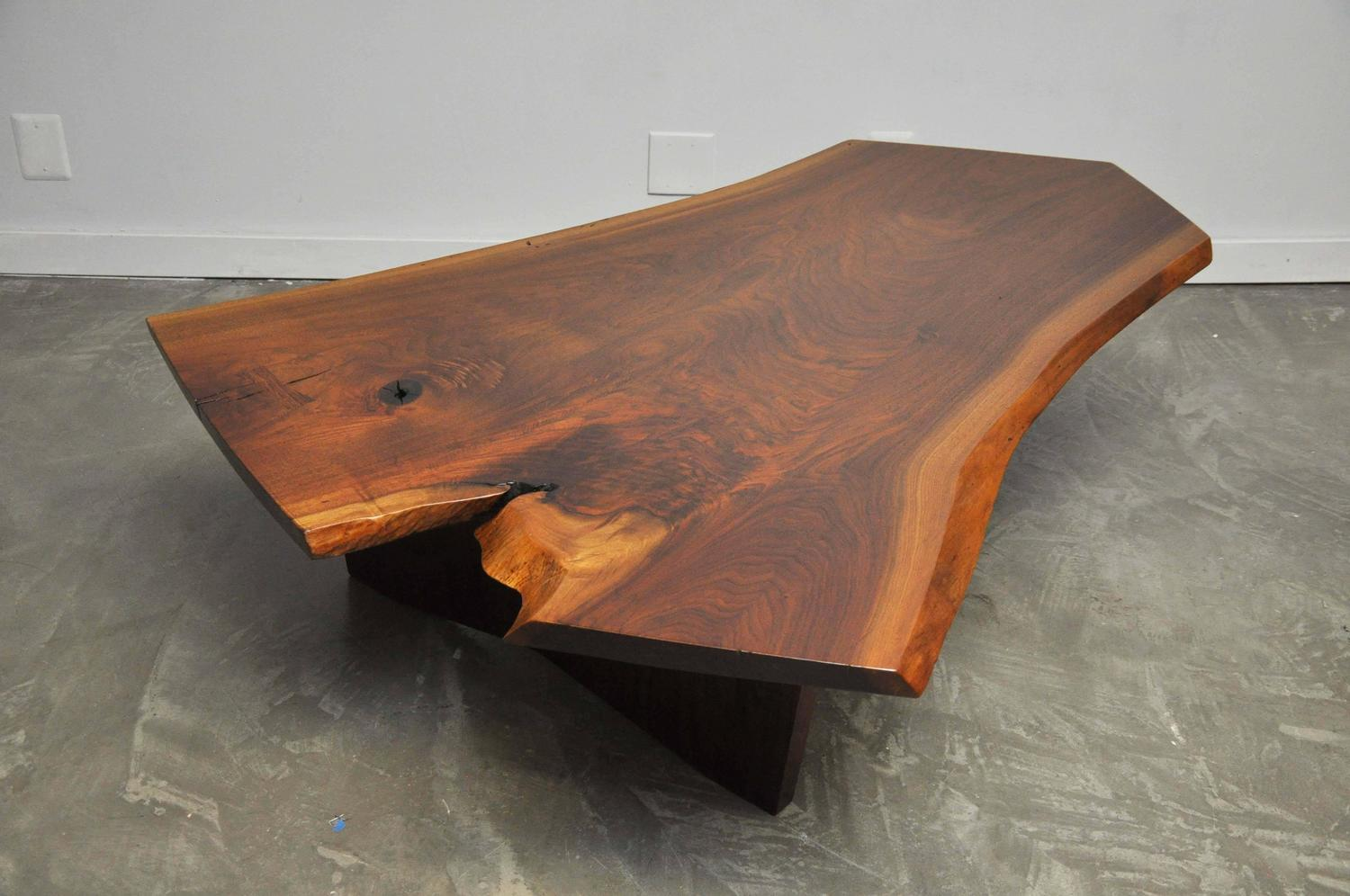 George Nakashima Walnut Slab Conoid Coffee Table For Sale At 1stdibs