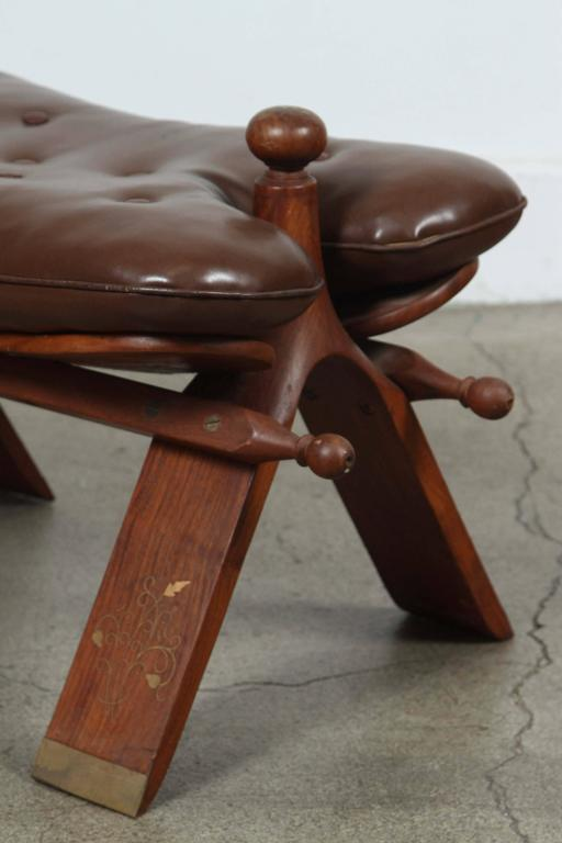 Pair Of Vintage Moroccan Brown Camel Saddle Stools At 1stdibs