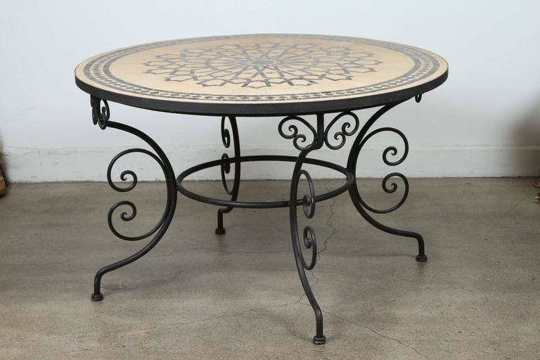 DANM2552 l Wrought Iron And Tile Coffee Table