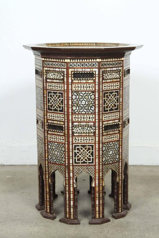 Syrian Side Tables Inlaid With Mother Of Pearl 2