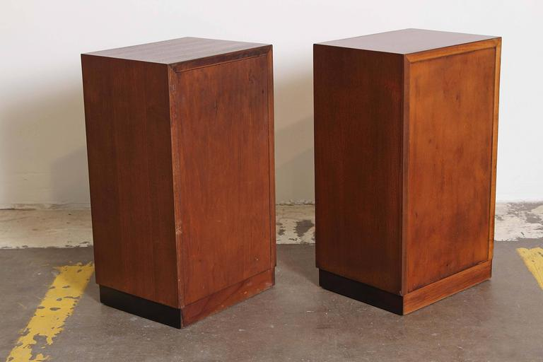 Aluminum Gilbert Rohde Herman Miller Art Deco 1933 World's Fair Nightstands Matched Pair For Sale