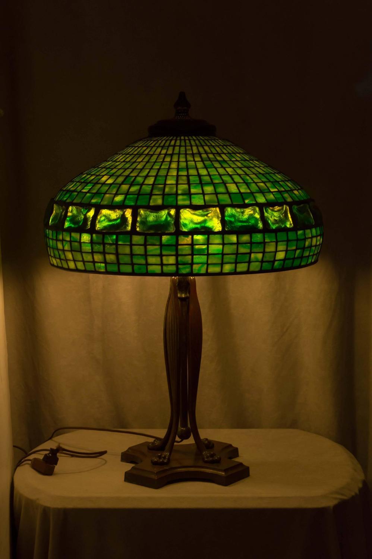 Tiffany Studios Turtle Back Tile Table Lamp At 1stdibs