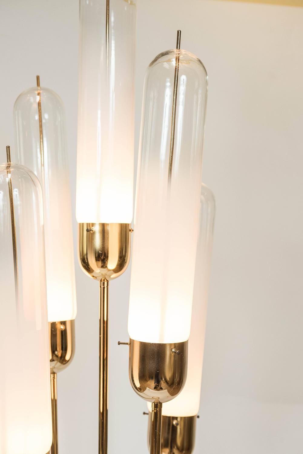 Murano Glass Floor Lamp Attributed To Vistosi Circa 1979 At 1stdibs