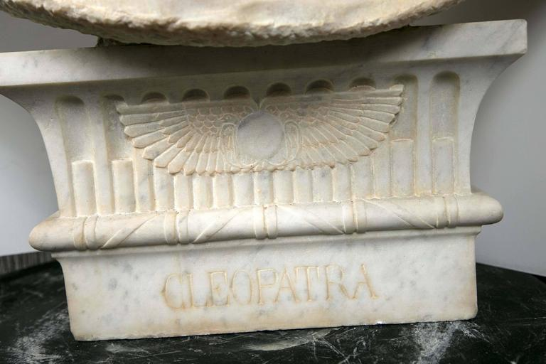Egyptian Marble Bust of Cleopatra For Sale