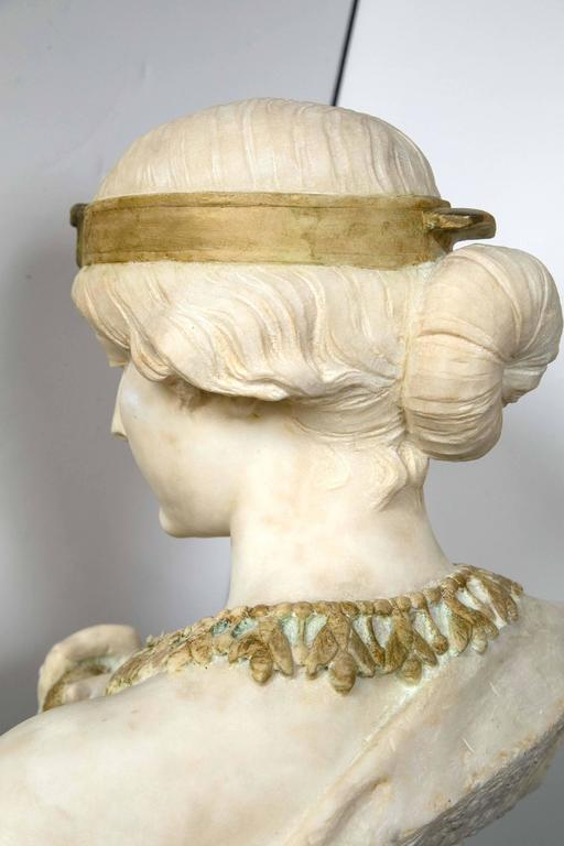 Marble Bust of Cleopatra For Sale 1