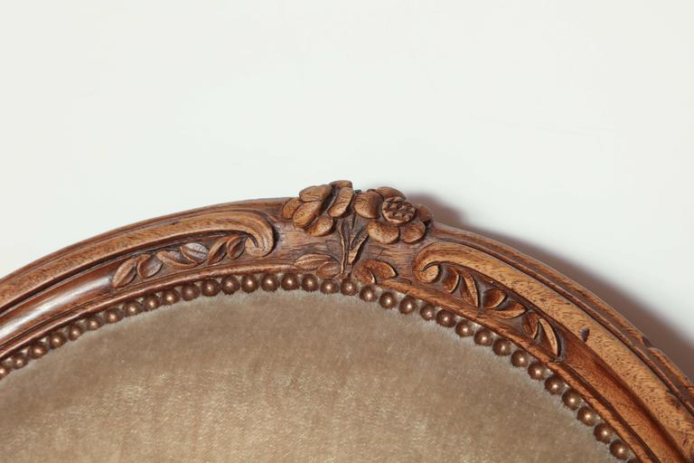 Pair of Carved Louis XV Fauteuil For Sale 1