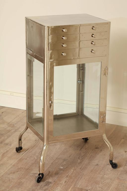 Mid-20th Century Industrial Chrome Cabinet For Sale