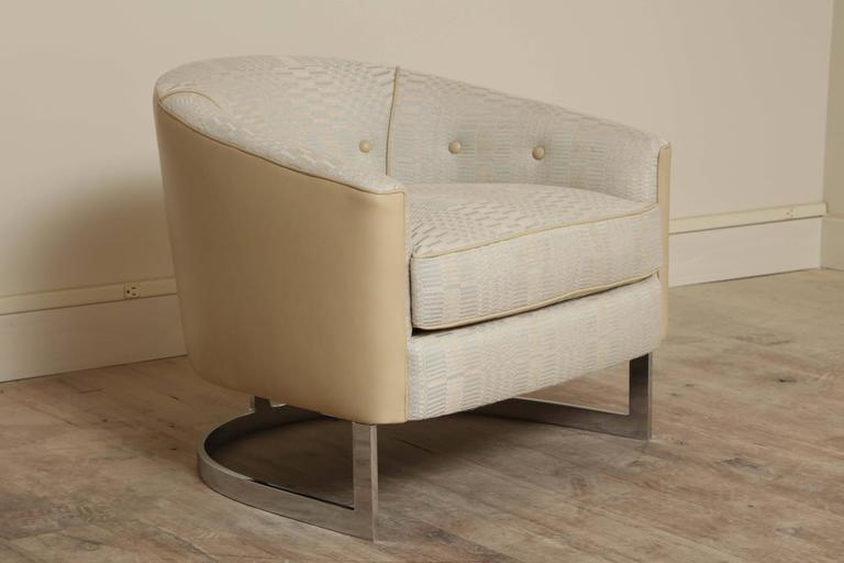 North American Barrel Back Chair by Selig For Sale
