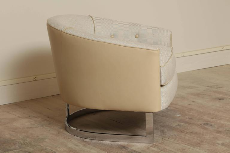 Barrel Back Chair by Selig In Excellent Condition For Sale In New York, NY