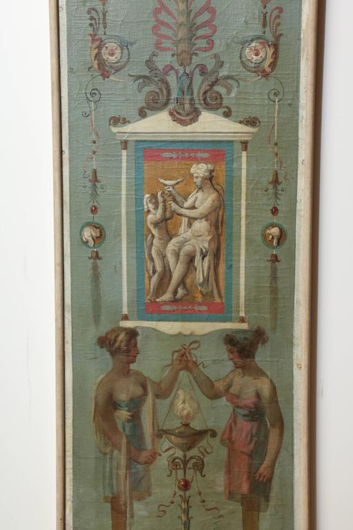 Italian Late 19th Century Allegorical Oil on Canvas For Sale