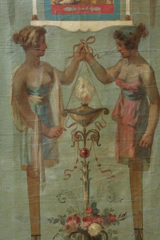 Late 19th Century Allegorical Oil on Canvas For Sale 4