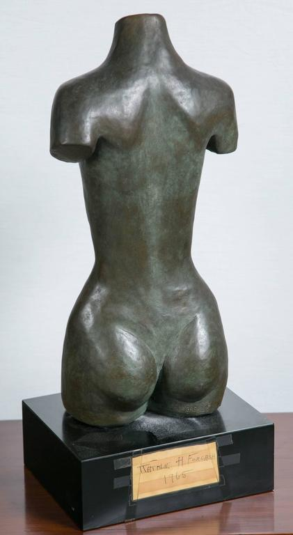 American Bronze Torso Sculpture For Sale