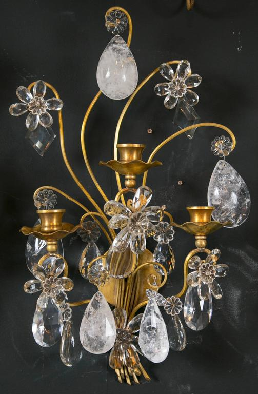 Rock Crystal Sconces Bagues For Sale At 1stdibs