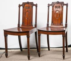 Pair of George III Hall Chairs