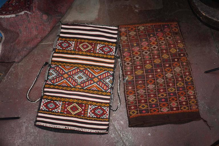 Turkish grain bags (100 percent wool), handmade in contemporaneously in Istanbul but in a very old, traditional style. Wide array of colors and patterns available. Wonderful as floor seating when filled with pillows, or to reupholster other items,