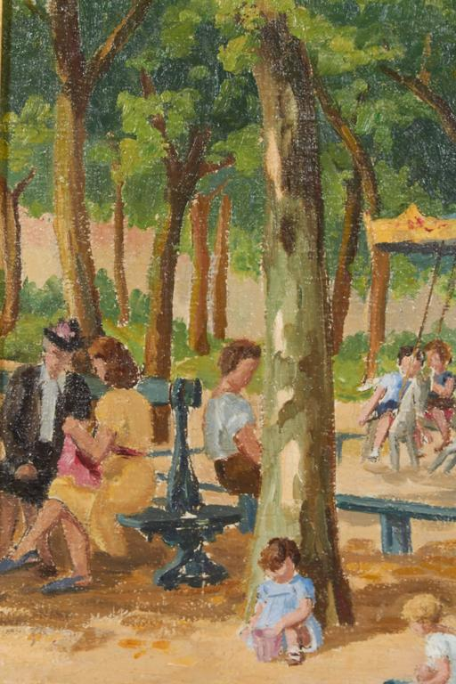 Painting children in the park oil painting for sale at for Oil painting for kids
