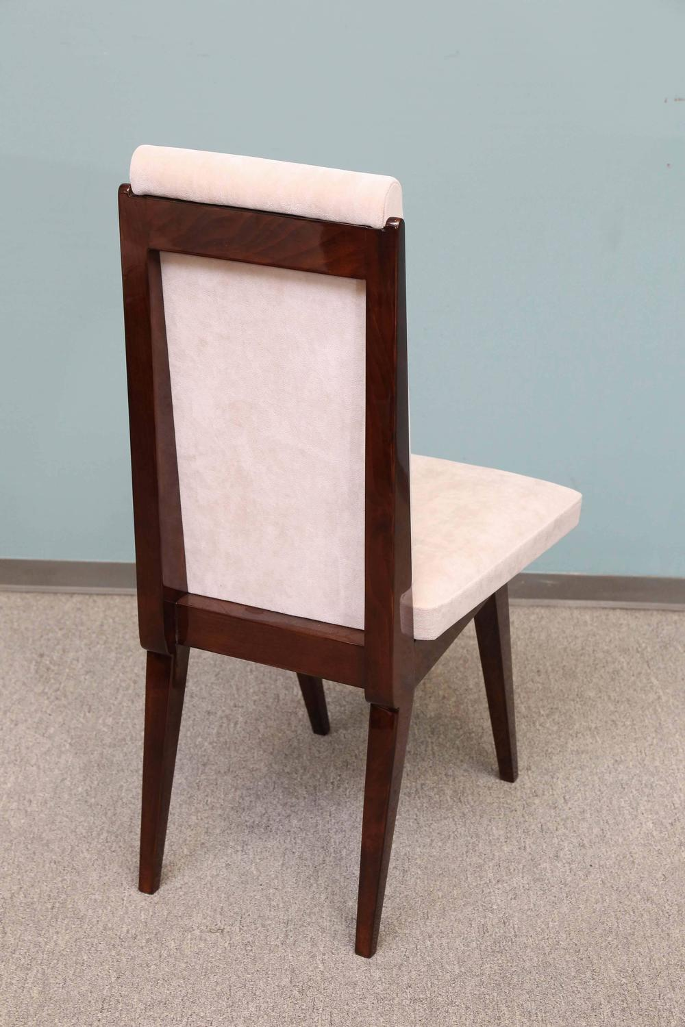 Set of 12 Dining Room Chairs with Trapezoid Seat at 1stdibs
