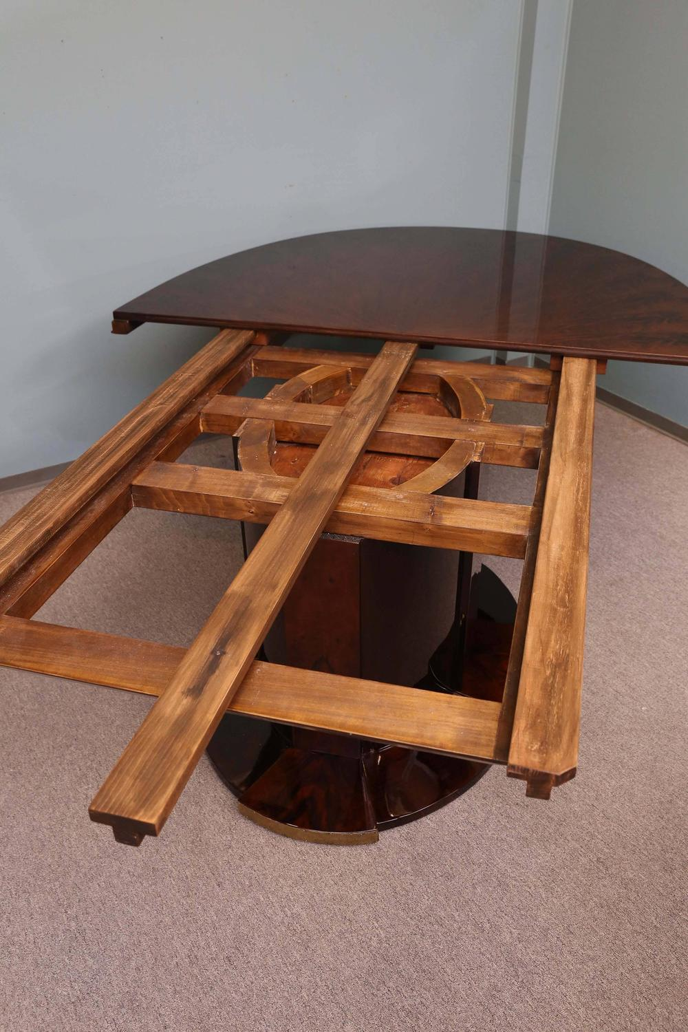 Art Deco Oval Dining Room Table At 1stdibs
