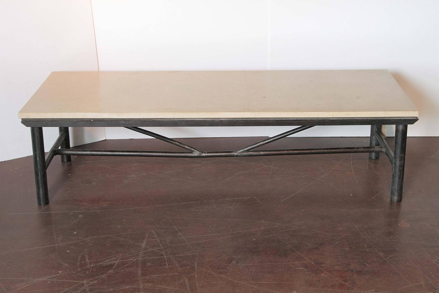 Contemporary vintage narrow coffee table for sale at 1stdibs for Center table coffee table