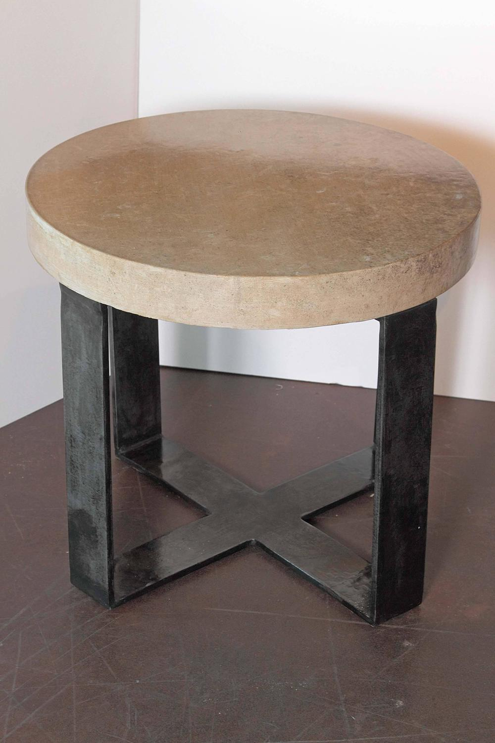 Taupe antique limestone x base end tables for sale at 1stdibs - Table basse taupe ...