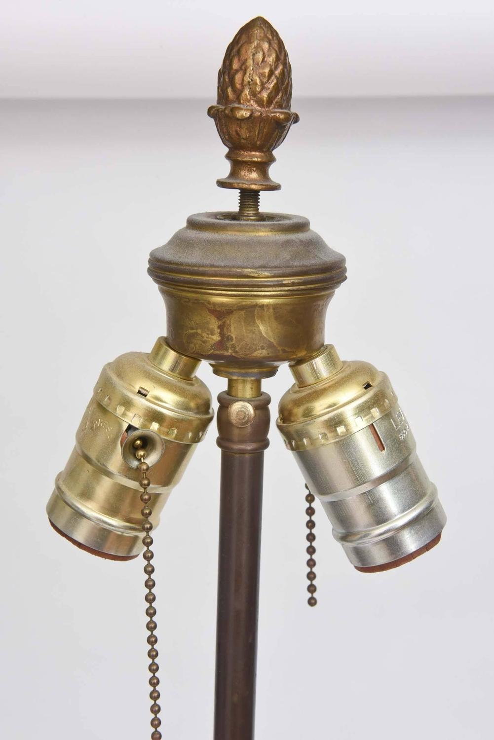 Baccarat Lamp With Ormolu Mounts Marble Base Tall And