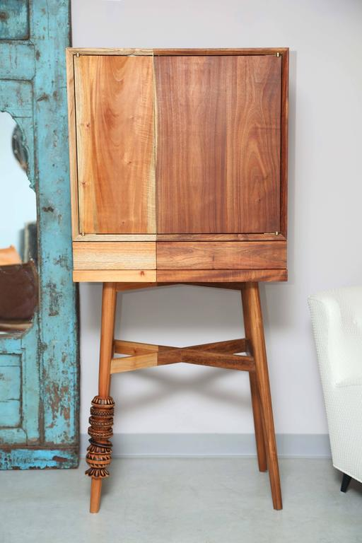 Bar Cabinet, Artisanal, Handcrafted Mexico Cedar and Tzalam Wood, Maison Object 2