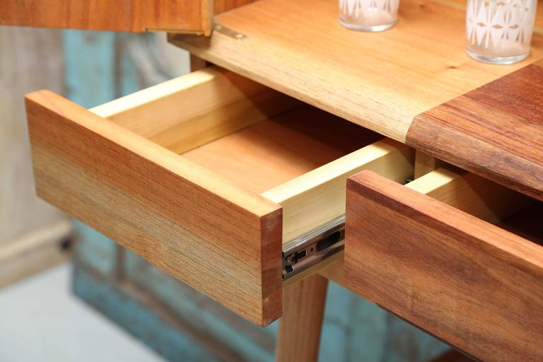 Bar Cabinet, Artisanal, Handcrafted Mexico Cedar and Tzalam Wood, Maison Object 6