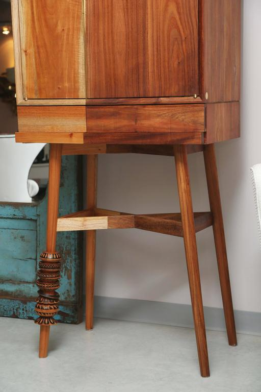 Bar Cabinet, Artisanal, Handcrafted Mexico Cedar and Tzalam Wood, Maison Object 7
