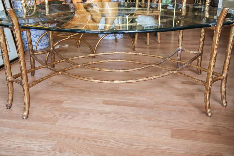 Vintage gilded faux bois coffee table for sale at 1stdibs Table jardin imitation bois