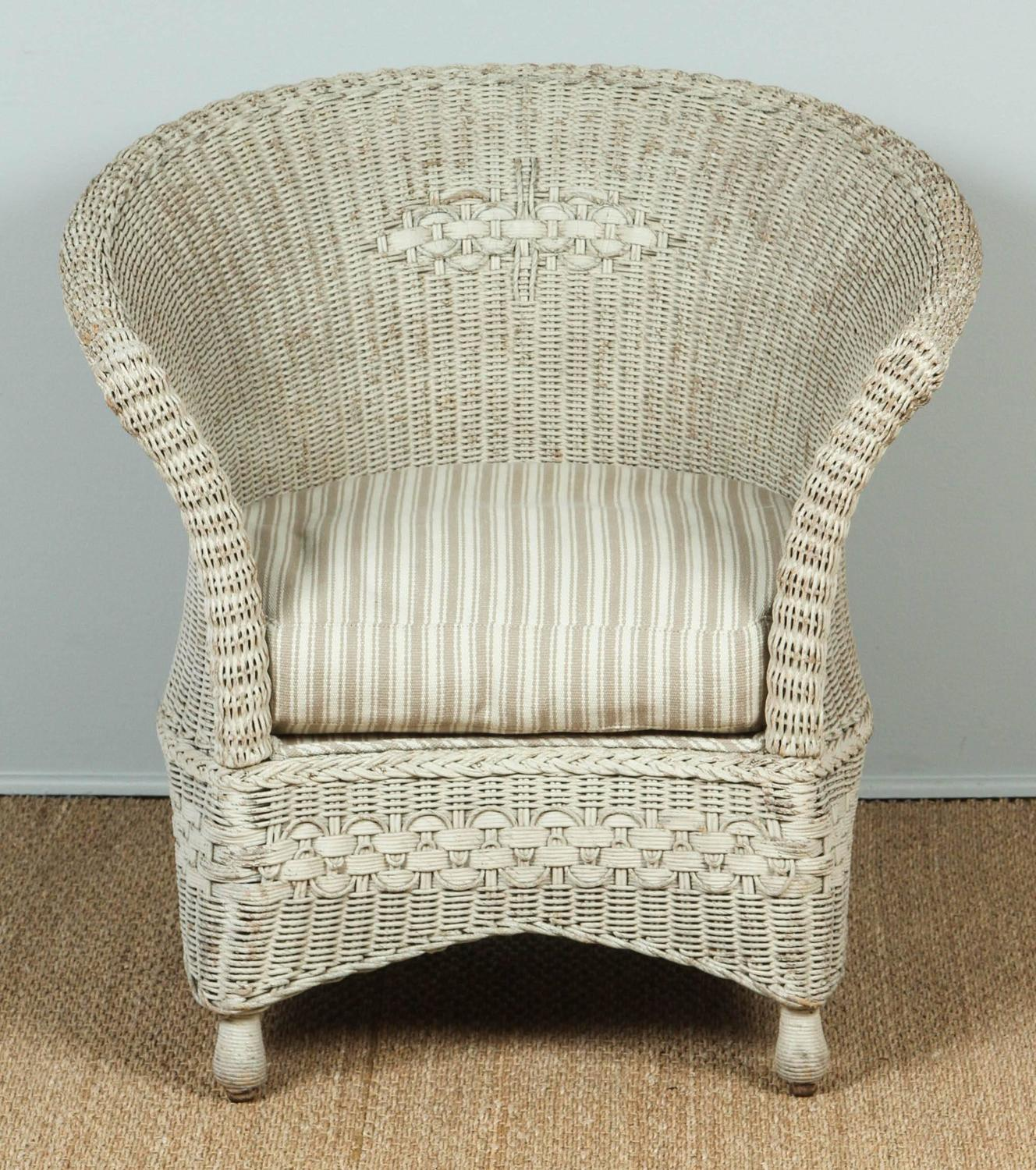 Old Fashioned Furniture For Sale: Antique Wicker Chair And Rocker For Sale At 1stdibs