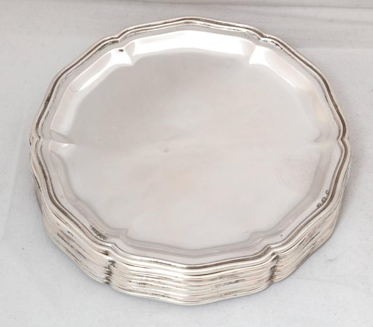 Set of 12 Austrian Continental .800 Silver Bread and Butter/Salad Plates For Sale 2